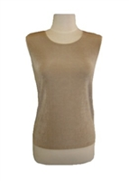Tank top - taupe - acetate/spandex