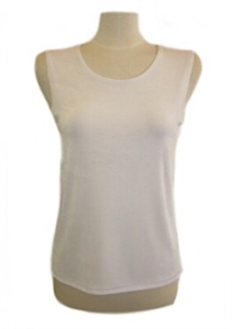 Tank top - white - acetate/spandex