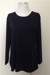 Long sleeve top - black - polyester/spandex