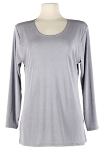Long sleeve top - grey - polyester/spandex
