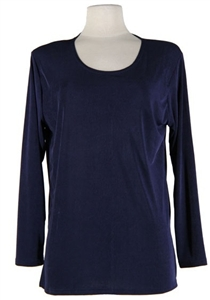 Long sleeve top - navy - polyester/spandex