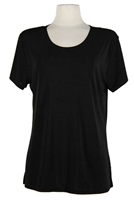 Short sleeve top - black - polyester/spandex