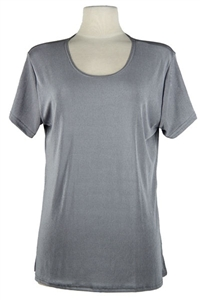 Short sleeve top - grey - polyester/spandex