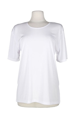 Short sleeve top - ivory - polyester/spandex