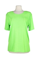 Short sleeve top - lime green - polyester/spandex
