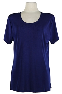 Short sleeve top - navy - polyester/spandex