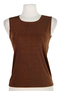 Tank top - brown - polyester/spandex