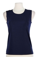 Tank top - navy - polyester/spandex