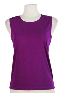 Tank top - purple - polyester/spandex