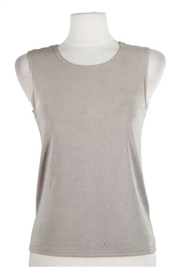 Tank top - taupe - polyester/spandex