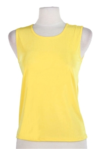 Tank top - yellow  - polyester/spandex
