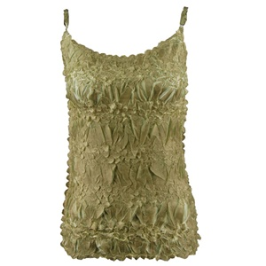 Spaghetti strap tank top in origami - celery/lemon