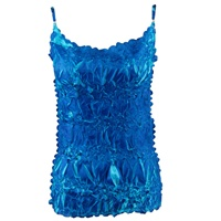 Spaghetti strap tank top in origami - royal/aqua