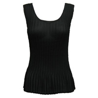 Tank top - mini pleats - georgette solid black