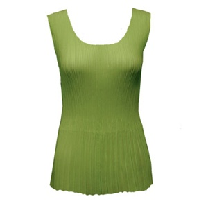Tank top - mini pleats - georgette solid green