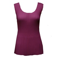 Tank top - mini pleats - georgette solid raspberry