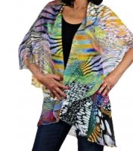Chiffon vest - multicolor animal print - polyester