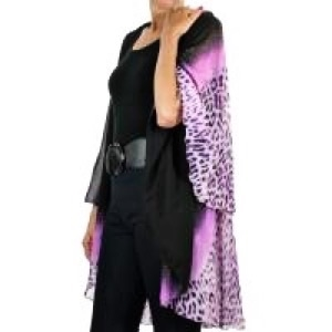Chiffon vest - purple cheetah - polyester