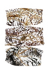 Mask - gold chain animal print