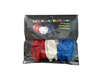 RED, WHITE & BLUE LED PARTY BALLOONS