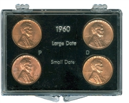 1960 large and small date cent sets