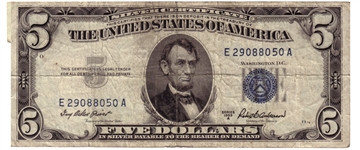 blue seal silver certificate