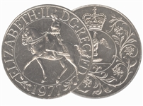 queen elizabeth silver jubilee crown 1977