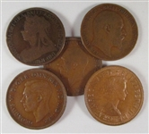 british large cent type set