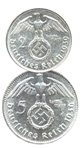 third reich silver coinage