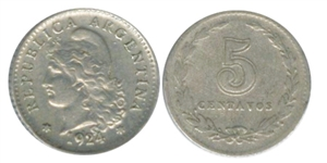 argentina capped liberty centavos