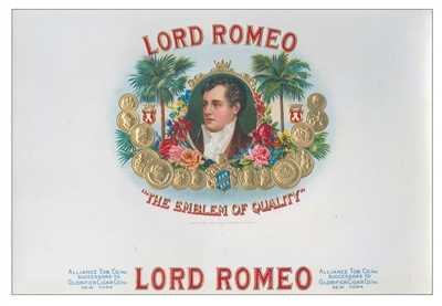 lord romeo cigar label