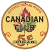 canadian club 5 cent cigar sign