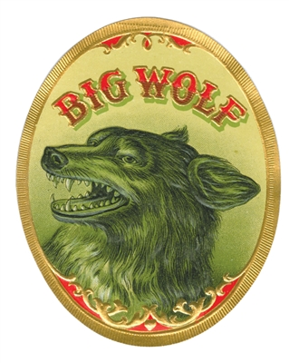 big bad wolf cigar label