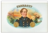 admiral farragut cigar box label