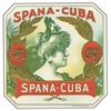 spana cuba cigar box label