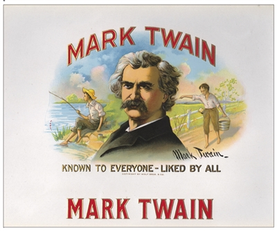 mark twain cigar box label