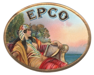 cleopatra epco cigar box label
