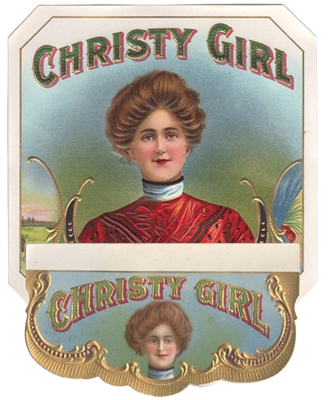 christy girl cigar labels