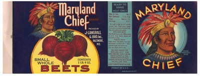 maryland chief beet can label
