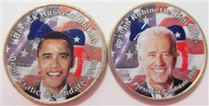 obama biden colorized quarters