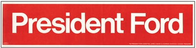 president ford bumper stickers