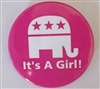 sarah palin its a girl button
