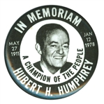 humphrey memorial button