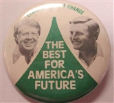 Carter-Mondale vs Ford-Dole (1976) Campaign Button