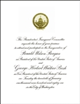 inaugural invitations from 1949 to 2017