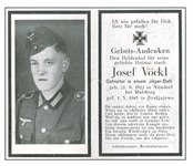 ww2 german death cards