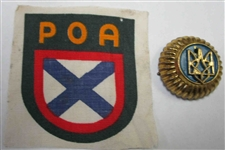 Russian Liberation Army Cap Badge or Sleeve Shield....