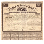 civil war confederate bearer bonds