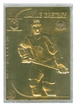gretzky gold plate card