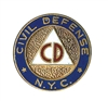 civil defense pin